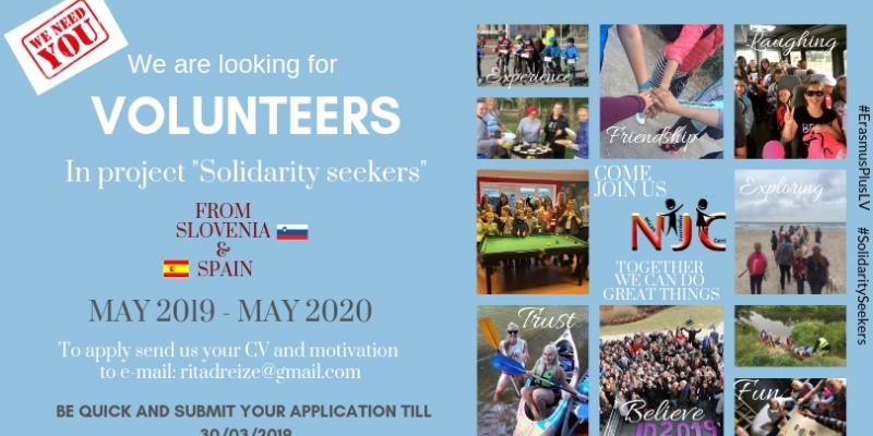 Meklējam brīvprātīgos